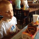 kids meal contained 2 nice cheeseburgers, fries and a drink for $5!