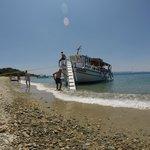 the boat at Tsougria