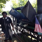 Train engine barbque and the cook! You cant go wrong!