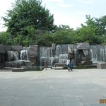 a portion of the FDR Memorial