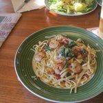 Shrimp linguini, Applebee's, Ann Arbor, MI, June 2014