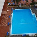 The swimming pool from our room