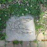 """sidewalk tile of the angel of """"Look Homeward Angel"""""""
