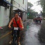 Riding in the rain can be fun..