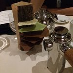 Tea, coffee and chocolate stuck in a log