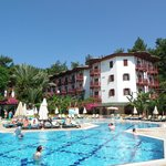 Hotel and pool...main building,restruant there to...