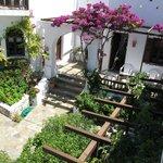 giardino visto dal balcone della camera