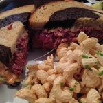 Reuben Sandwich on Marble Rye w/ Mac. Salad