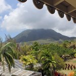 View from cafe in Nevis Botanical Gardens