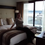Me relaxing in our suite on arrival.