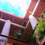 El cielo azul de Oaxaca, adorna este espacio