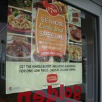 Hope you can read the Senior Special sign