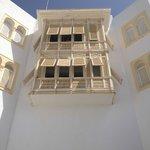 Window overlooking courtyard