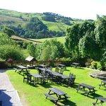 View over beer garden