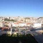 Vue panoramique sur Lisbonne depuis Miradouro Sao Pedro de Alcantara