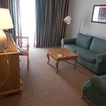 Suite 55 lounge with sliding door onto terrace