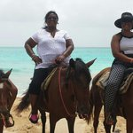 Horseback riding on the beach.  Awesome!