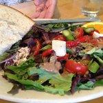 Multigrain Chicken Salad Sandwich & Salad