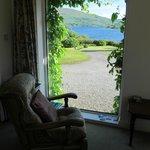 vue du salon sur le Lough Corrib
