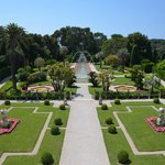 Der Garten in Form e. Schiffsdecks