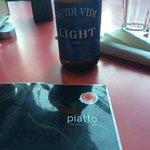 Piatto menu and local beer