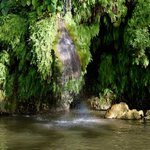 Water fall created from the natural pool above...