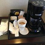 In room Kona coffee