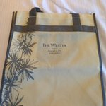 Complimentary hotel tote