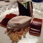 dessert con le gelatine di birra e peperoni