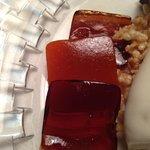 Gelatine di birra e peperoni nel dessert