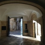 Entry way to the courtyard on a sunny Sunday afternoon