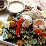 Mediterranean Salad with Giant Shrimps