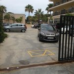 Parking area for hotel El Cids customers