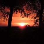 coucher de soleil pris sur place
