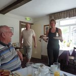 Birthday candles in breakfast toast - lovely gesture!