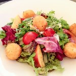 Salad with fried cheese