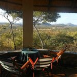 View from one of the 2 bedroom lodges