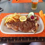 20€  16oz special menu ribeye steak - delicious
