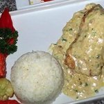 Chicken Cordon Bleu in White Sauce