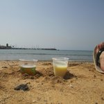 All inclusive drinks on the beach.