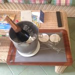 Birthday Champagne delivered to room!!