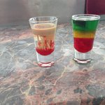 Brain Damage & Bob Marley shots