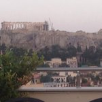 View of Acropolis from the roof bar