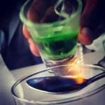 Flaming Absinthe shots!