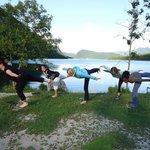 yoga at the bohinj lake
