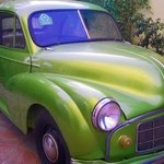 The beautiful car in the premises