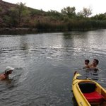 Swimming in the cove on the 4th of July
