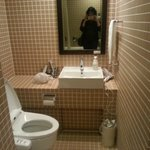 Very functional, clean, modern bathroom