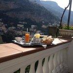 La nostra colazione in terrazza!