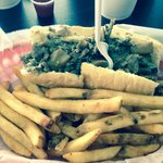 Mushroom cheesesteak